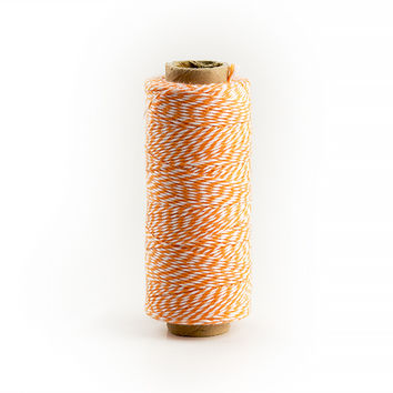 Baker's Twine, Orange and White Mix, 136 Yds