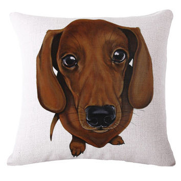 Sammy the wiener dog pillow cover