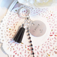 Hand Stamped Keychain With Name Or Word Of Your Choice