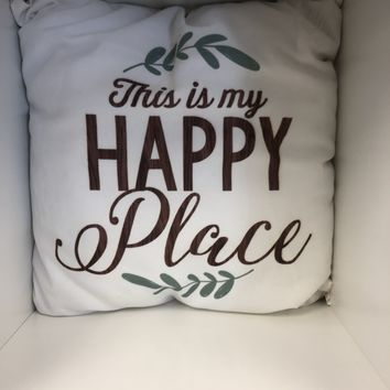 """This is My Happy Place Throw Pillow 16"""""""