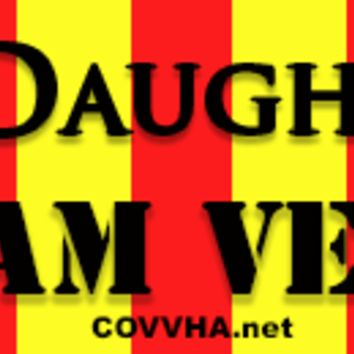 "COVVHA ""Proud Daughter"" Bumper Sticker"