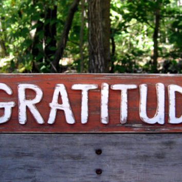 Gratitude - Ready to Ship - Be Thankful Sign - Be Grateful - Gifts Under 20 - Gratitude Sign - Shabby Chic Sign