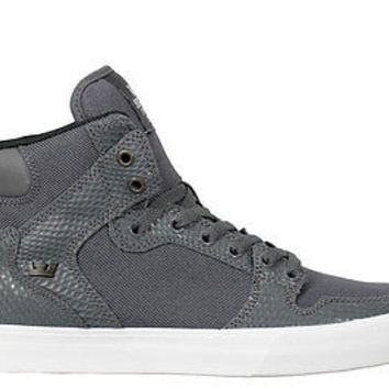 Supra Mens Sneakers Vaider Grey Snake White S28257
