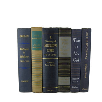 Blue Farmhouse Rustic Decorative Books,  Blue Vintage Books,  Old Book,  Photo Prop, Table Setting, Centerpieces Wedding Decor, Hostess Gift