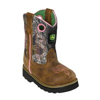 John Deere® Infant's Pink Camouflage Western Boots