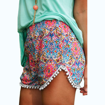 Women Shorts Summer Hign Waist Floral Printed Short For Woman Fashion New Lady Casual Sports Beach Shorts