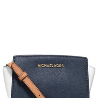 MICHAEL Michael Kors 'Mini Selma' Saffiano Leather Messenger Bag