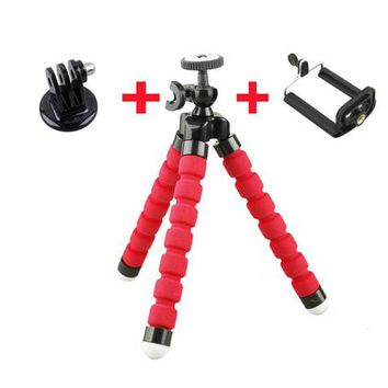 Husiway Mini Portable Flexible Sponge Octopus Tripod Stand Mount With Holder For Phone Camera smart phone monopod selfie stick