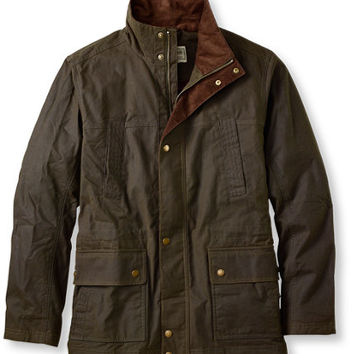 Town and Field Waxed Cotton Jacket: Casual Jackets | Free Shipping at L.L.Bean