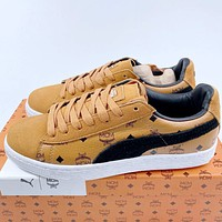 Puma x MCM classic classic presbyopia fashion low-top sneakers shoes