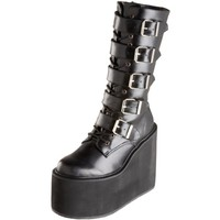 Demonia by Pleaser Women's Swing-220 5 Buckle Platform Boot