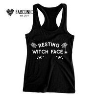 Resting Witch Face Tank Top, Resting Witch Face, Halloween tank top, Halloween top, Halloween resting witch face, Resting Witch Face tops