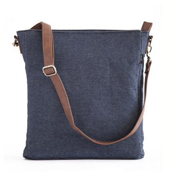 Indigo Denim Sling Crossbody