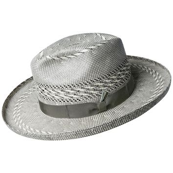 "Bailey ""Gravely"" Wide Brim Straw Fedora"