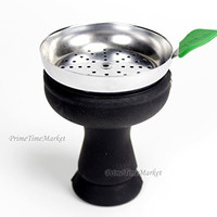 Shisha Land Black Silicone Dream Hookah Phunnel Lotus Bowl With Metal Charcoal Wind Screen Tray Makers of D-Hose