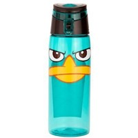 Zak! Designs Tritan Water Bottle with Flip-top Cap with Phineas and Ferb Graphics, Break-resistant and BPA-Free Plastic, 25 oz.