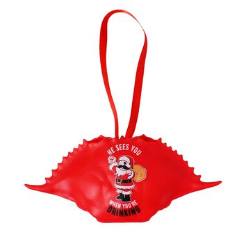 *PRE-ORDER* He Sees You When You're Drinking (Red) / Crab Shell Ornament (Estimated Arrival Date: 12/1)