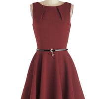 Closet Mid-length Sleeveless Fit & Flare Luck Be a Lady Dress in Merlot