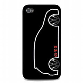 VW GTI MkV Silhouette for iphone 4 and 4s case