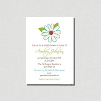Elegant Flower - Floral - DIY Printable Invitation