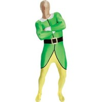 Morphsuits Premium Elf  XL, Green / Yellow / Black / White, X-Large