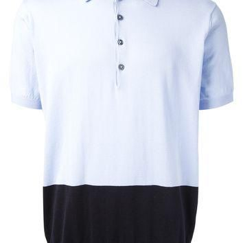 Paul Smith Two-Tone Knit Polo Shirt