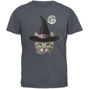 DCCKJY1 Halloween Funny Cat Witch Charcoal Youth T-Shirt