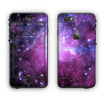 The Purple Space Neon Explosion Apple iPhone 6 LifeProof Nuud Case Skin Set