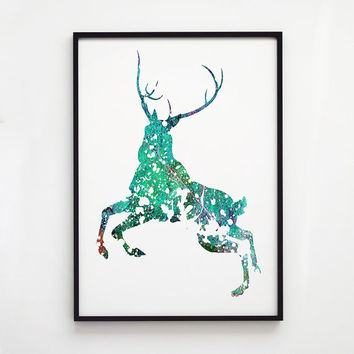 Stag poster Animal decor Colorful art EM103