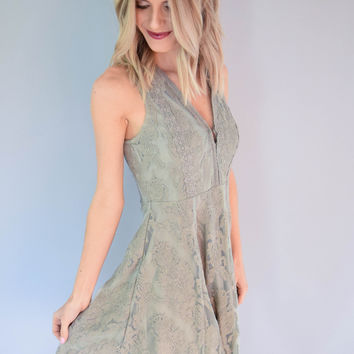 Bailey Crochet Sage Dress