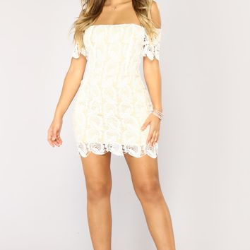 Hacienda Crochet Dress - Ivory