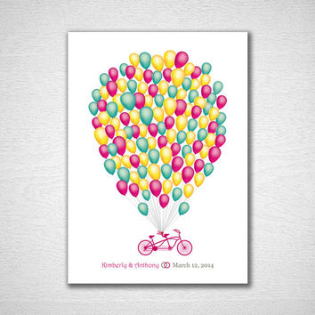 Wedding Guestbook Poster Guest Book Alternative Balloon Wedding Guest Book Print Wedding Guestbook Print for 120 Guest Wedding Poster