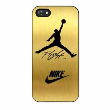 DCKL9 Nike Jordan Flight Jump In Gold Texture iPhone 5 Case