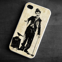 IPhone Case zombie Charlie Chaplin skull skeleton TPU Silicone Cover iPhone 4/4S gothic art grave crow
