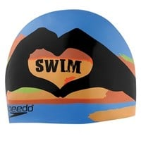 Speedo I Heart Swim Silicone Swim Cap at SwimOutlet.com