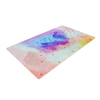 "Iris Lehnhardt ""Summer Pastels"" Multicolor Painting Woven Area Rug"
