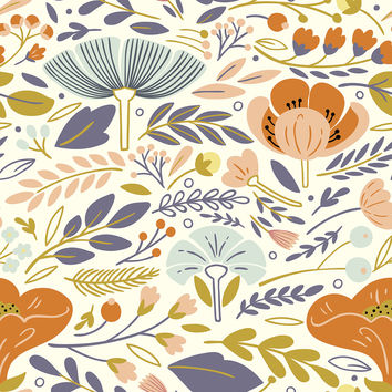 Flower Style Removable Wallpaper