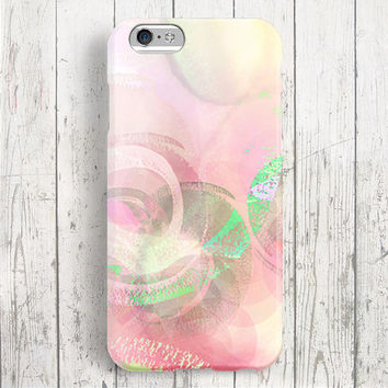iPhone 6 Case, iPhone 6 Plus Case, iPhone 5S Case, iPhone 5 Case, iPhone 5C Case, iPhone 4S Case, iPhone 4 Case -Green Peach
