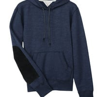 Rag & Bone - Suede Patch Hoody, Navy