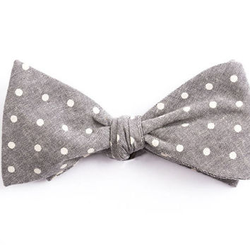 Gray Dot Bow Tie
