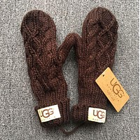 UGG winter tide brand trendy women trendy gloves F Coffee