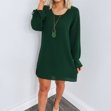 For The First Time Dress: Hunter Green