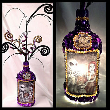 "Jack & Sally ""Nightmare Before Christmas"" Fireball Lamp"