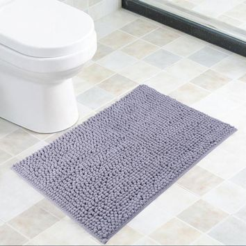 56x40cm Microfiber Bath Mat Non Slip Chenille Water Absorbent Bathroom Door Mat Home Floor Rugs Home Carpet