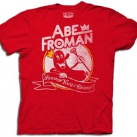 Ferris Bueller's Day Off Abe Froman Sausage King Red Adult T-shirt  - Ferris Bueller's Day Off - | TV Store Online