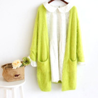 Mohair Long Cardigan