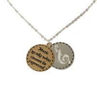 LOVEsick Music Note 2-Disc Charm Necklace