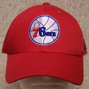 Embroidered Baseball Cap Sports NBA Philadelphia 76ers NEW 1 size fit all Adidas