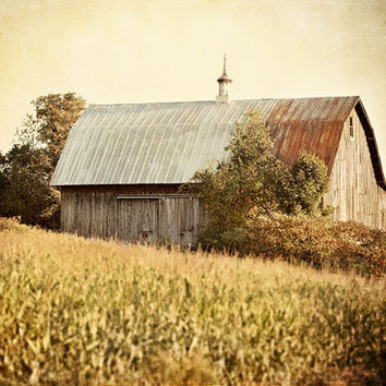 Autumn Harvest Barn Art Photograph 8x10 by LisaRussoPhotography