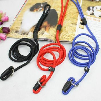 Pro Pet Dog Nylon Rope Training Leash Slip Lead Strap Adjustable Traction Collar